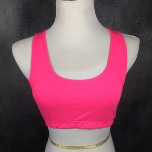 Fabletics Sports Bra in Vibrant Hot Pink